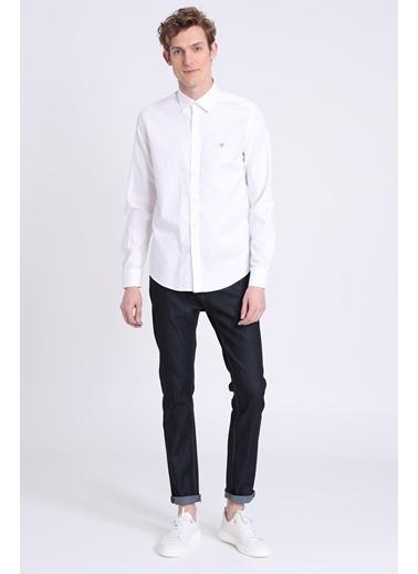 Lufian Slim Fit Uzun Kollu Gömlek Beyaz